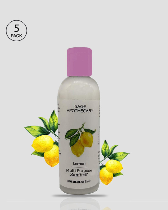 Shop Sage Apothecary Sanitizer - Lemon - 100 ml (Pack of 5)-Front
