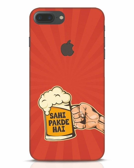 Shop Sahi Pakde Hai iPhone 7 Plus Logo Cut Mobile Cover-Front