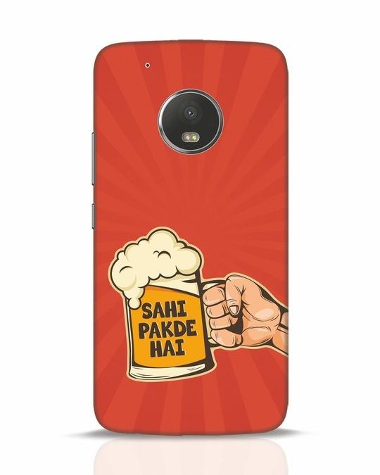 Shop Sahi Pakde Hai Moto G5 Plus Mobile Cover-Front