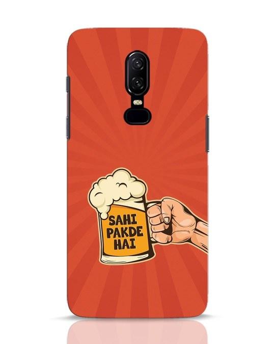 Shop Sahi Pakde Hai OnePlus 6 Mobile Cover-Front