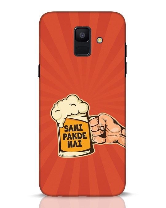 Shop Sahi Pakde Hai Samsung Galaxy A6 2018 Mobile Cover-Front