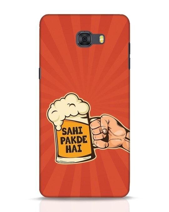 Shop Sahi Pakde Hai Samsung Galaxy C9 Pro Mobile Cover-Front