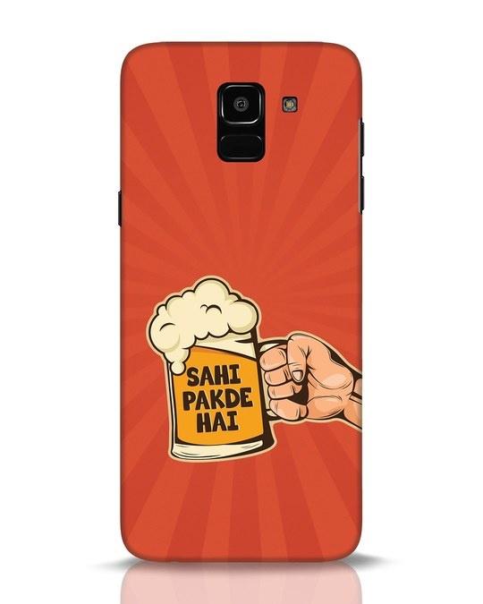 Shop Sahi Pakde Hai Samsung Galaxy J6 Mobile Cover-Front