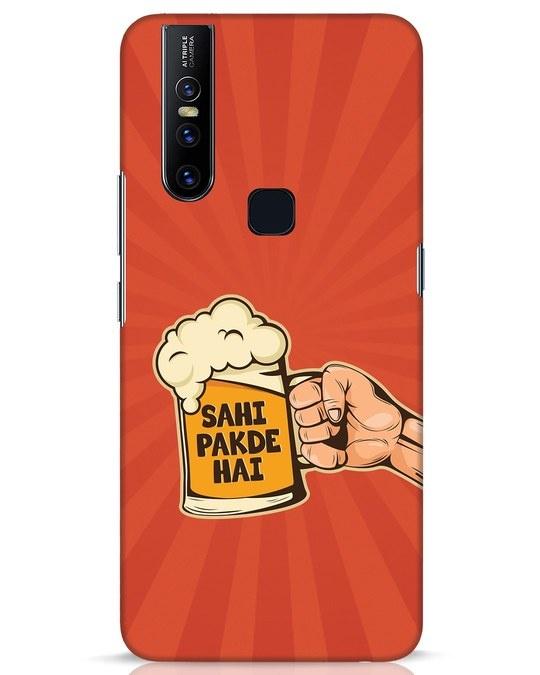 Shop Sahi Pakde Hai Vivo V15 Mobile Cover-Front