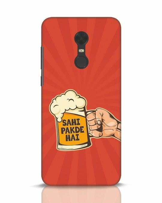 Shop Sahi Pakde Hai Xiaomi Redmi Note 5 Mobile Cover-Front