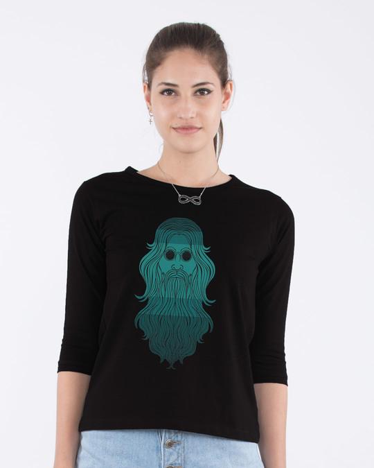 Shop Saint Round Neck 3/4th Sleeve T-Shirt-Front