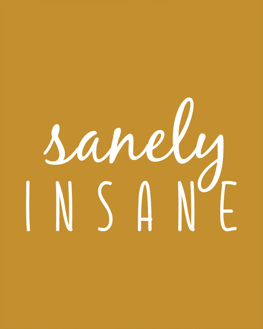 Shop Sanely Insane Round Neck 3/4th Sleeve T-Shirt