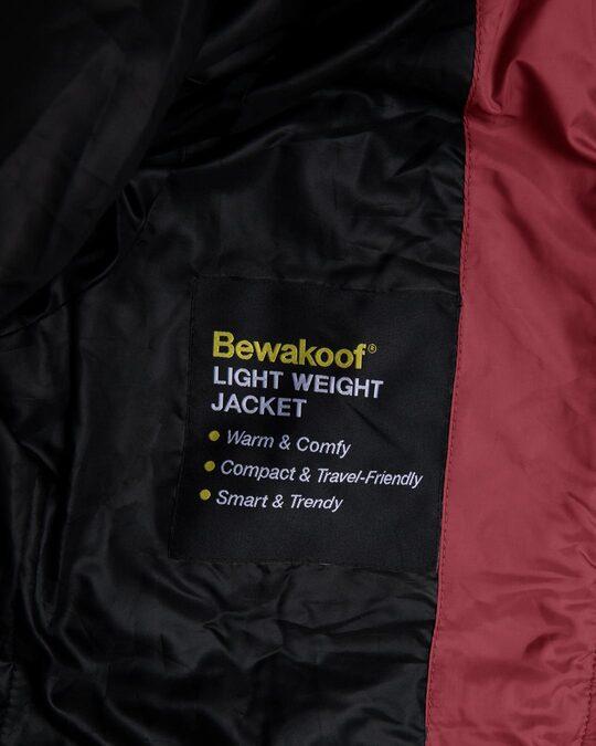 Shop Sangria Red Plain Puffer Jacket