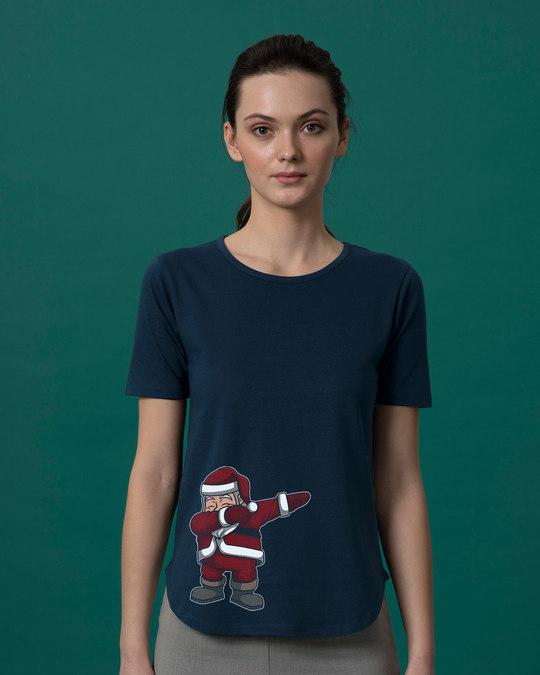 Shop Santa Dab Basic Round Hem T-Shirt-Front