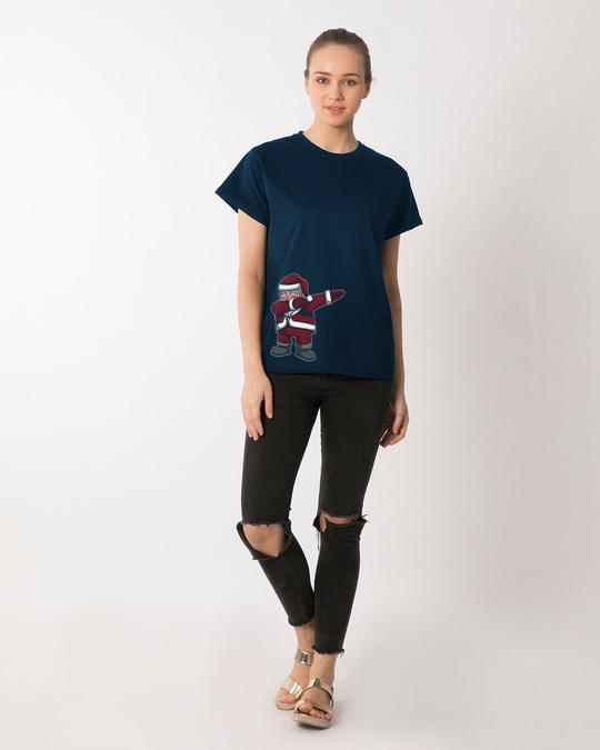 Shop Santa Dab Boyfriend T-Shirt