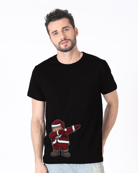 Shop Santa Dab Half Sleeve T-Shirt-Back