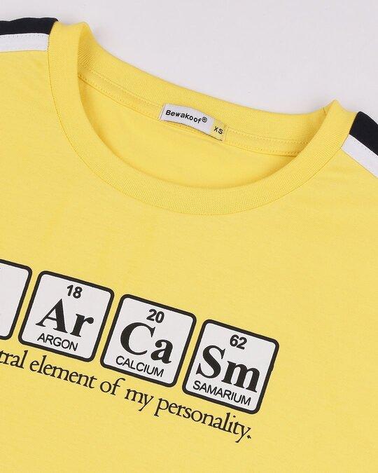 Shop Sarcasam Personality Color Block Boyfriend T-Shirt