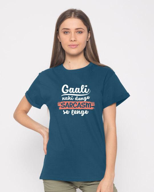 Shop Sarcasm Se Boyfriend T-Shirt-Front