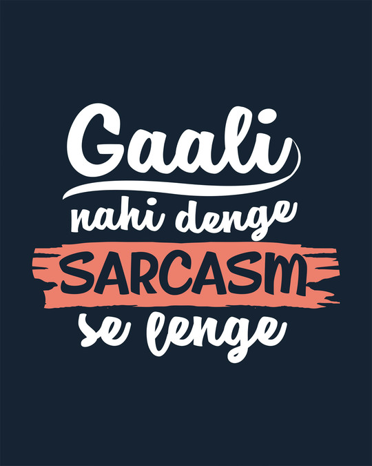 Shop Sarcasm Se Half Sleeve T-Shirt