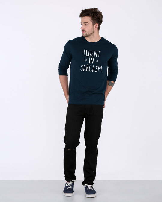 Shop Sarcastic Fluency Full Sleeve T-Shirt-Full
