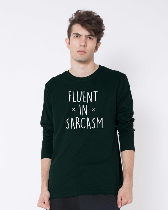 Shop Sarcastic Fluency Full Sleeve T-Shirt-Front
