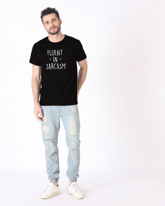 Shop Sarcastic Fluency Half Sleeve T-Shirt