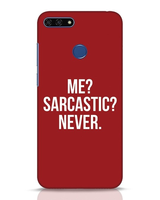 Shop Sarcastic Huawei Honor 7A Mobile Cover-Front