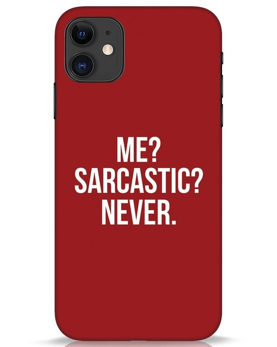 Shop Sarcastic iPhone 11 Mobile Cover-Front
