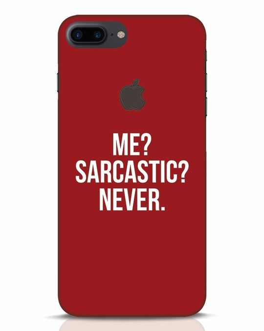 Shop Sarcastic iPhone 7 Plus Logo Cut Mobile Cover-Front