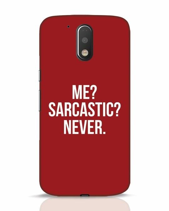 Shop Sarcastic Moto G4 Plus Mobile Cover-Front
