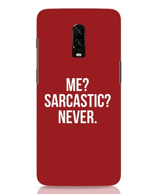 Shop Sarcastic OnePlus 6T Mobile Cover-Front