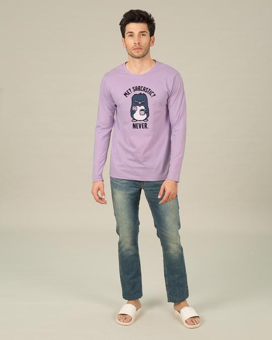Shop Sarcastic Penguin Full Sleeve T-Shirt-Full