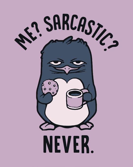 Shop Sarcastic Penguin Full Sleeve T-Shirt