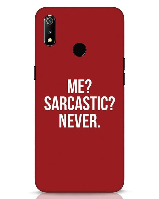 Shop Sarcastic Realme 3 Mobile Cover-Front