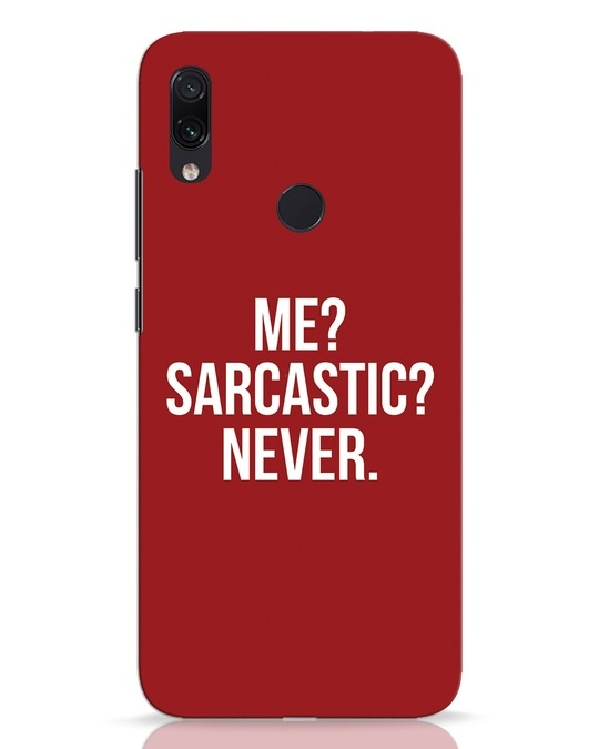 Shop Sarcastic Xiaomi Redmi Note 7 Mobile Cover-Front