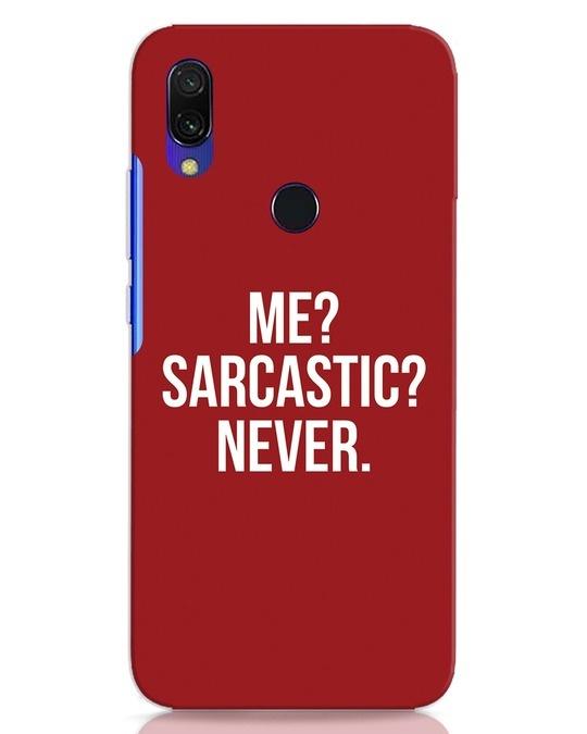 Shop Sarcastic Xiaomi Redmi Y3 Mobile Cover-Front