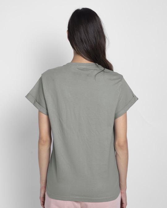 Shop Sassy Cat Boyfriend T-Shirt (DL) Meteor Grey-Back
