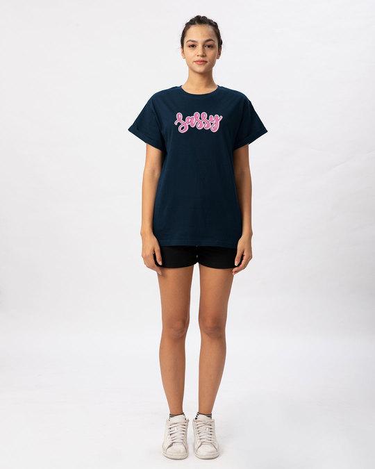 Shop Sassy Typo Boyfriend T-Shirt