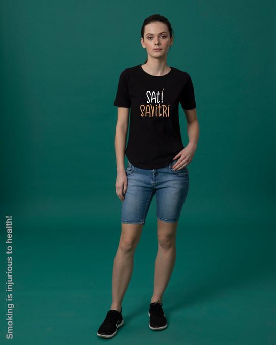 Shop Sati Savitri Basic Round Hem T-Shirt