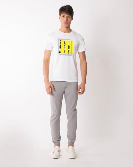 Shop Saturdays Half Sleeve T-Shirt-Design