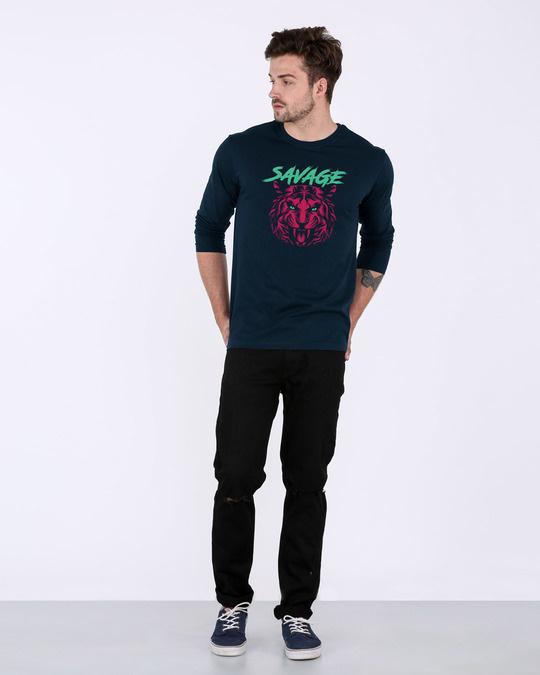 Shop Savage Beast Colorful Full Sleeve T-Shirt