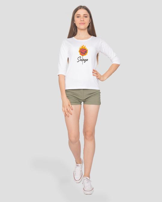 Shop Savage Burning Rose Round Neck 3/4th Sleeve T-Shirt-Design