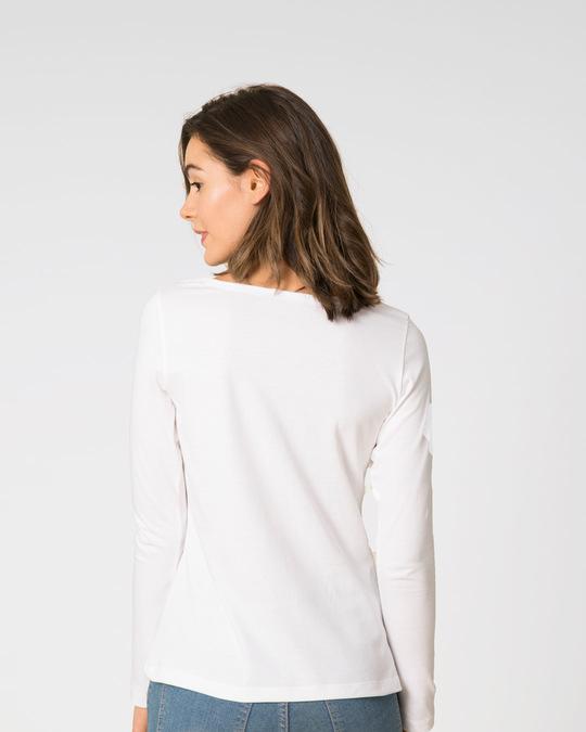 Shop Savage Burning Rose Scoop Neck Full Sleeve T-Shirt-Back
