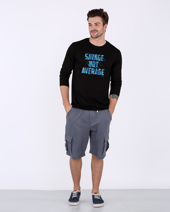 Shop Savage Not Average Full Sleeve T-Shirt-Design