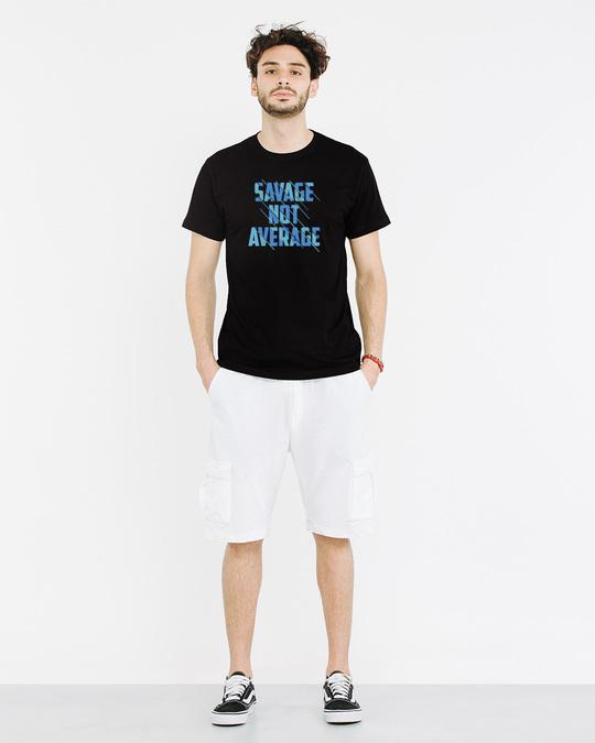 Shop Savage Not Average Half Sleeve T-Shirt-Full