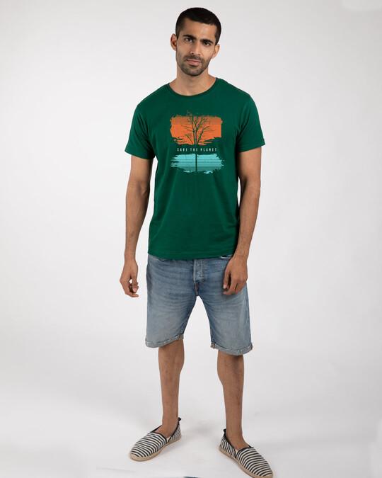 Shop Save The Planet Tree Half Sleeve T-Shirt-Design