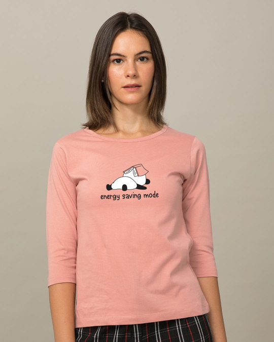 Shop Saving Energy Round Neck 3/4th Sleeve T-Shirt-Front