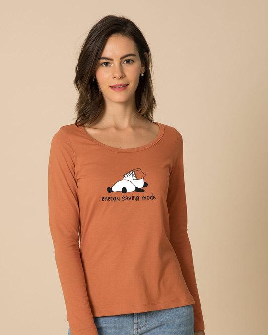Shop Saving Energy Scoop Neck Full Sleeve T-Shirt-Front