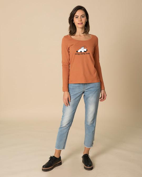 Shop Saving Energy Scoop Neck Full Sleeve T-Shirt-Design