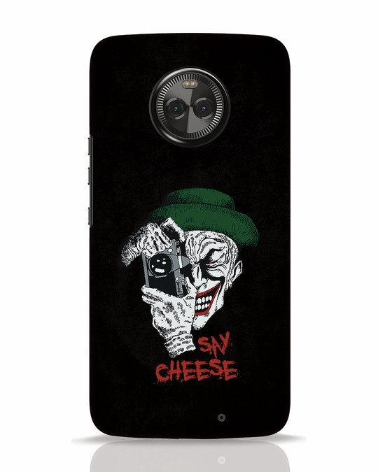 Shop Say Cheese Moto X4 Mobile Cover-Front