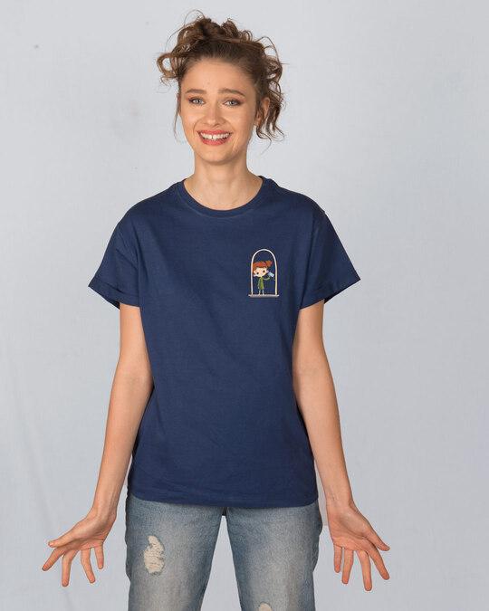 Shop Say Hello Girl Boyfriend T-Shirt