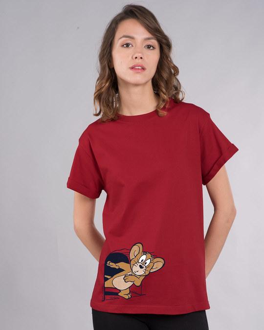 Shop Scared Jerry Boyfriend T-Shirt (TJL)-Front