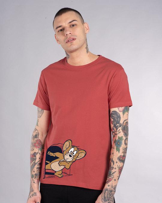 Shop Scared Jerry Half Sleeve T-Shirt (TJL)-Back