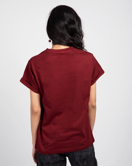 Shop Scarlet Red Boyfriend T-Shirt-Full