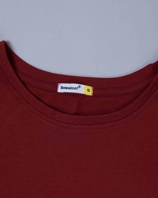 Shop Scarlet Red Half Sleeve T-shirt